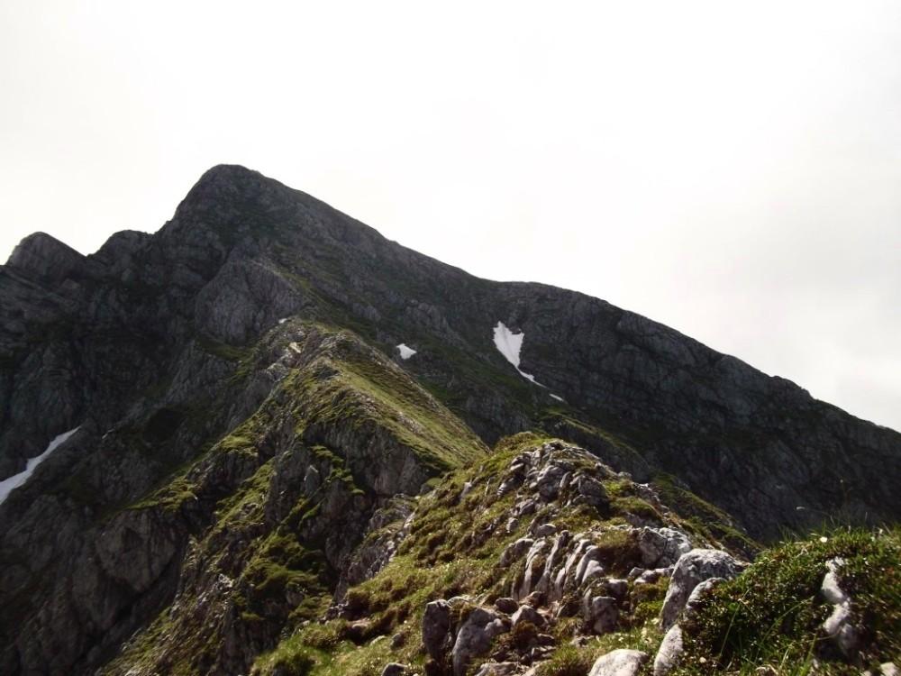 Am Nordgrat geht's schnurstracks zum Gipfel.