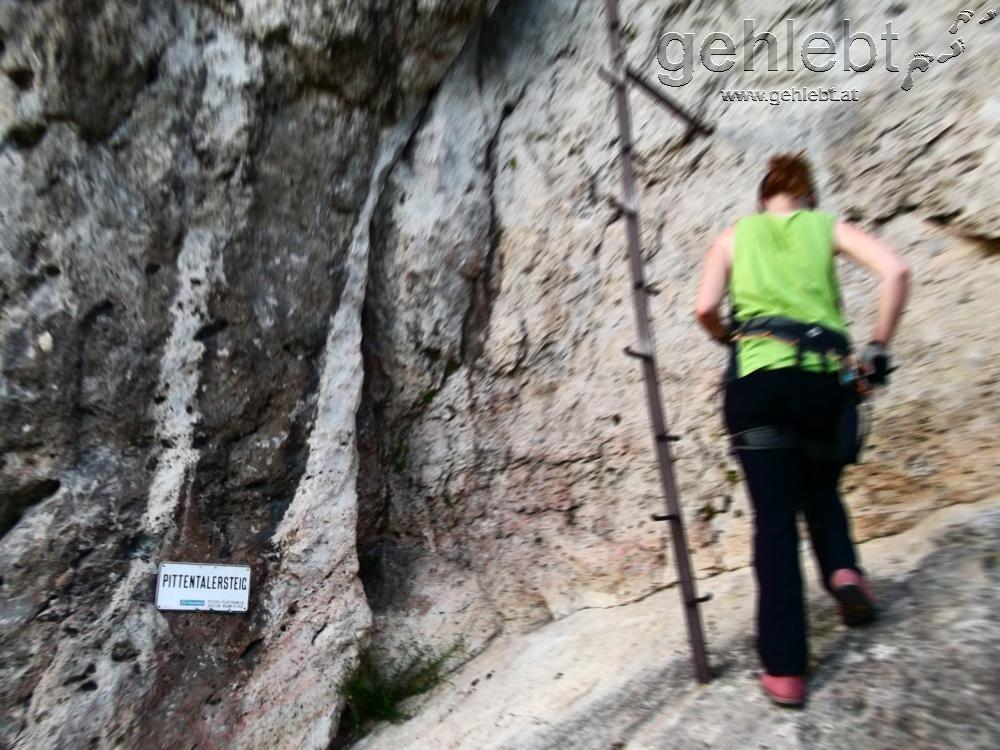 Pittentaler Klettersteig : Pittentaler klettersteig d türkensturz gehlebt