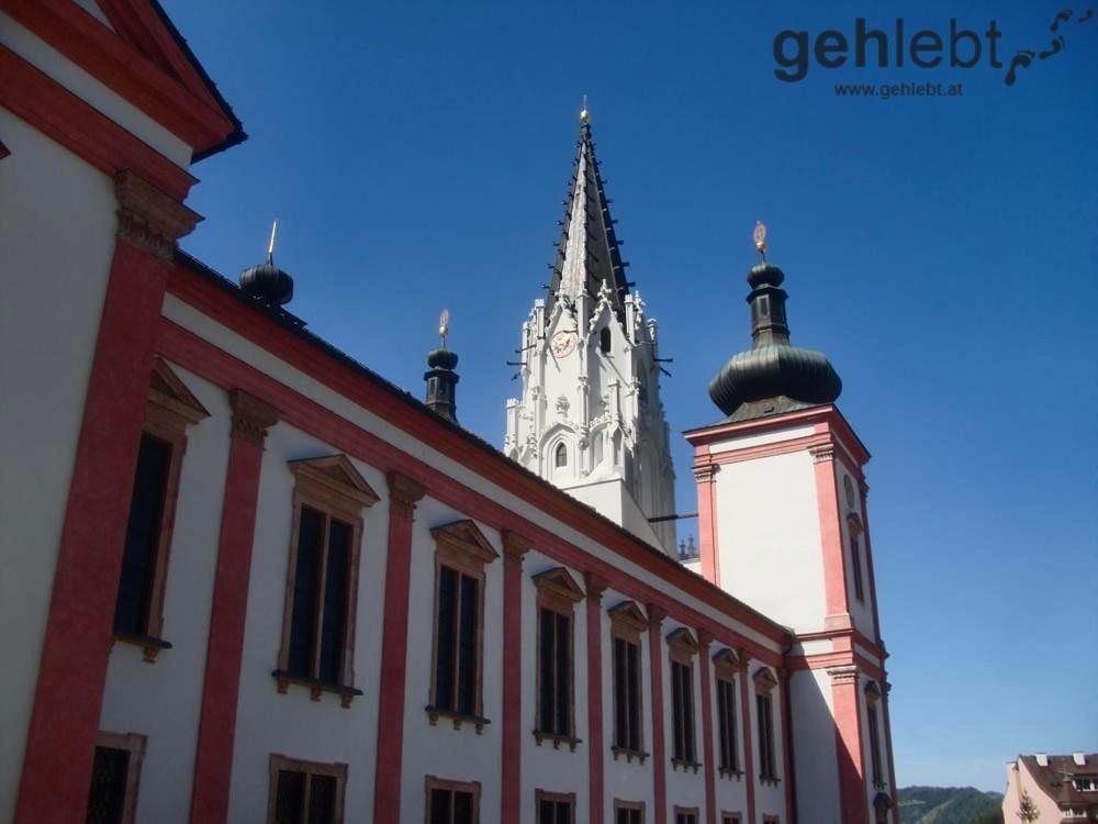 Hier an der Basilika Mariazell endet der Burgenländische Mariazellerweg.