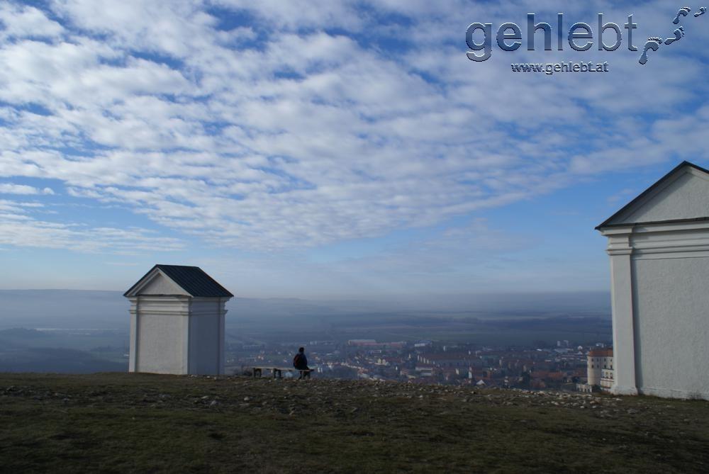 Blick vom Heiligen Berg auf Mikulov.