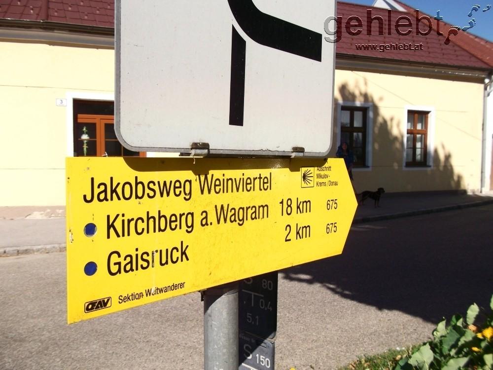 Vorrang für den Jakobsweg Weinviertel.