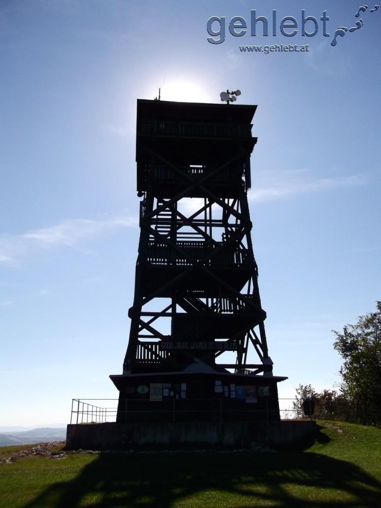 Die Aussichtswarte am Oberleiser Berg - leider nicht immer geöffnet.