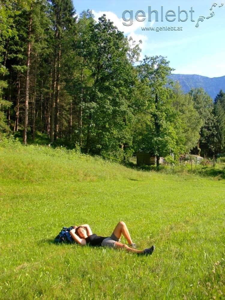 Sonnenbaden in Langwies