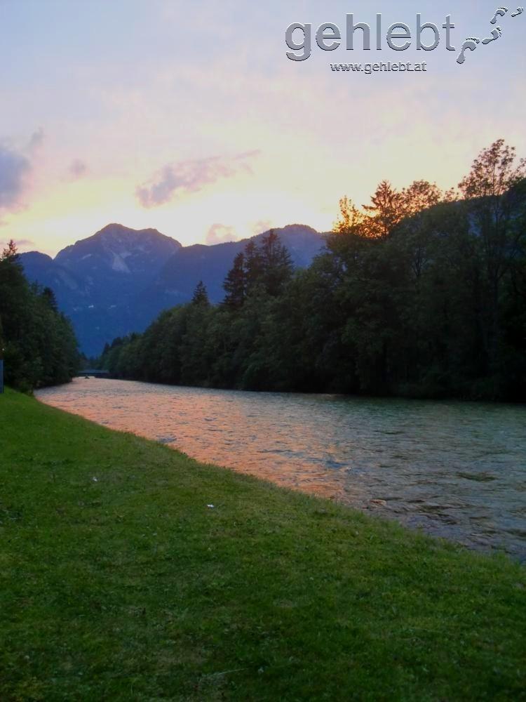 Sonnenuntergang bei Obertraun