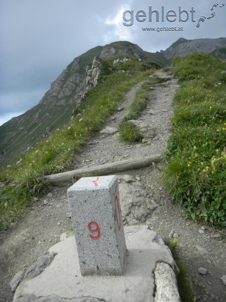 Grenzverlauf im Rätikon zwischen Österreich und Liechtenstein.