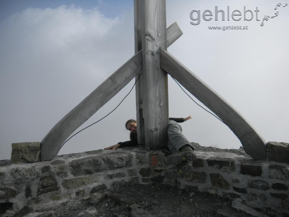Gleichzeitig in drei Ländern - der Naafkopf (Grenzgipfel Schweiz-Österreich-Liechtenstein)