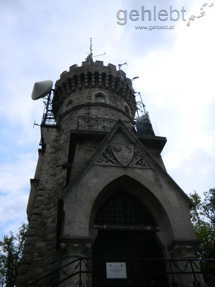 Die Aussichtswarte am Hermannskogel kennzeichnet den höchsten Punkt Wiens.