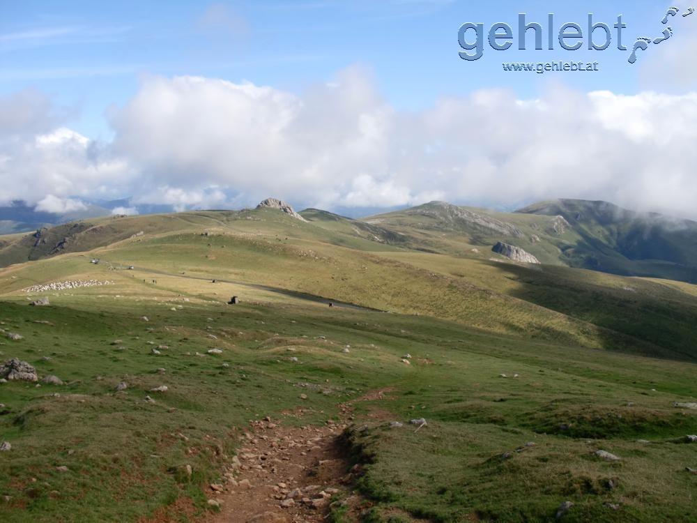 Nahe der 1.400m Marke in den Pyrenäen.