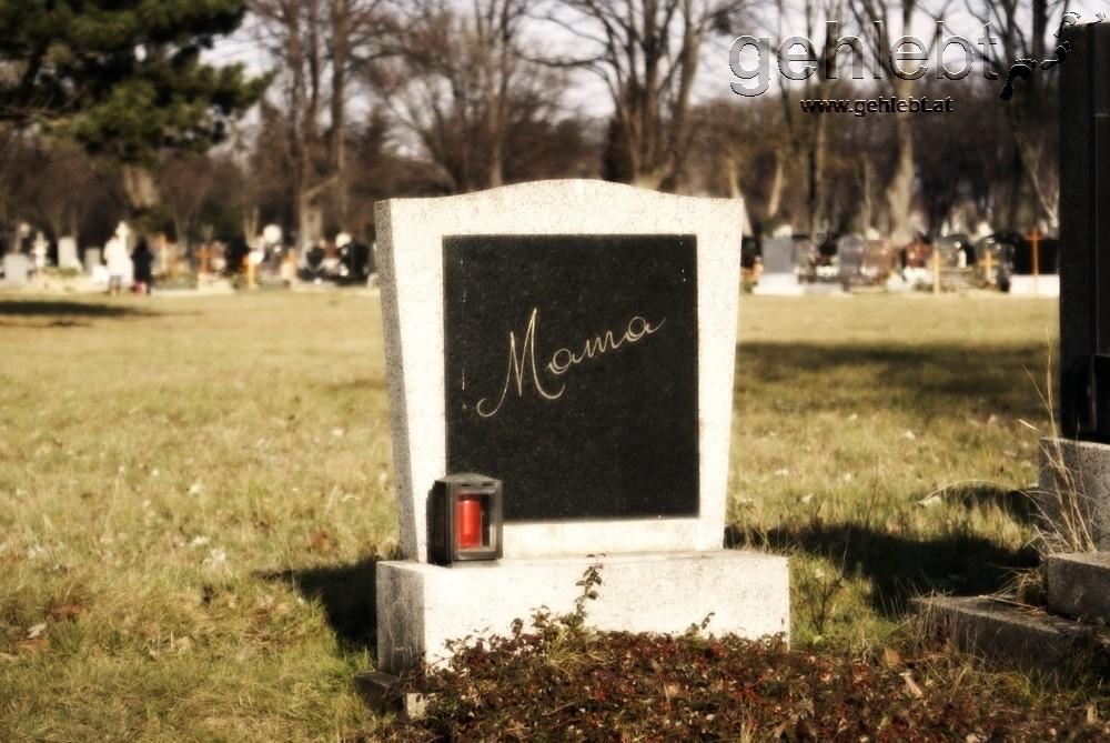 Eine berührende Grabinschrift am Wiener Zentralfriedhof.