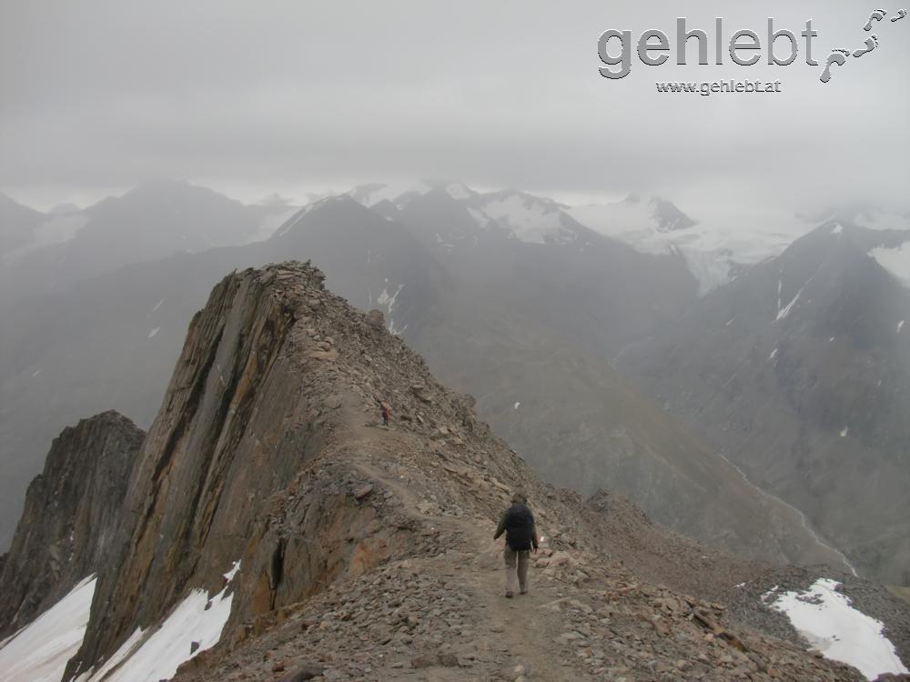 am Abstieg von der Kreuzspitze
