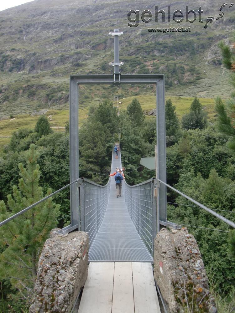 Hängebrücke bei Rofen