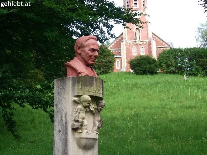 Peter Rosegger-Denkmal in Mürzzuschlag.