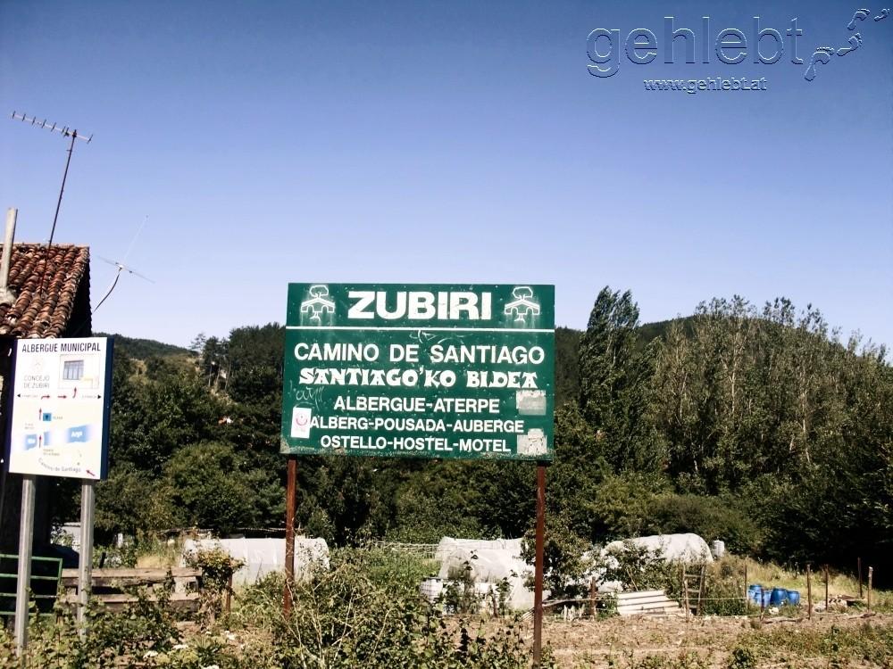 Willkommen in Zubiri, einem schönen Ort am Rio Arga