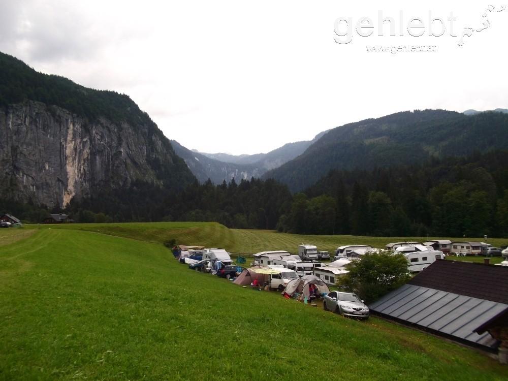 Wir verbrachten das Nächtle am Campingplatz in Gößl