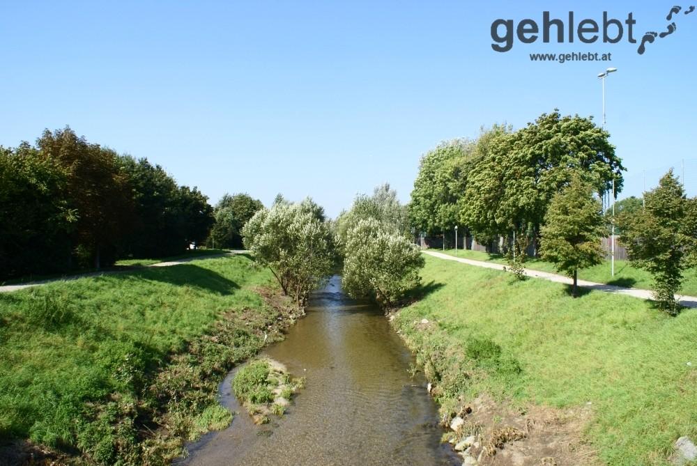 Am Liesing-Fluss fühlen sich RadfahrerInnen und SpaziergeherInnen wohl - RUW 10.