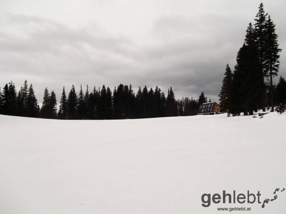 Winterwanderung Naturfreundehaus Knofeleben - am Naturfreundehaus Knofeleben