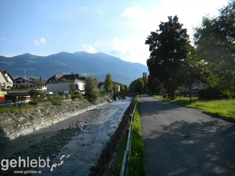 Augstenberg, Liechtenstein - die Meng kurz vor Nenzing