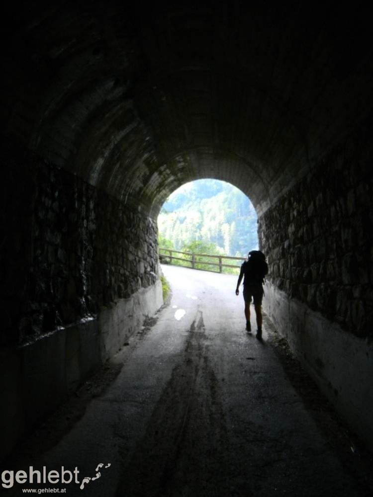 Augstenberg, Liechtenstein - Tunnel an der Buder-Höhe