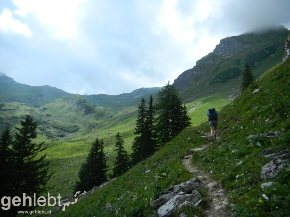 Augstenberg, Liechtenstein - Aufstieg zur Pfälzerhütte