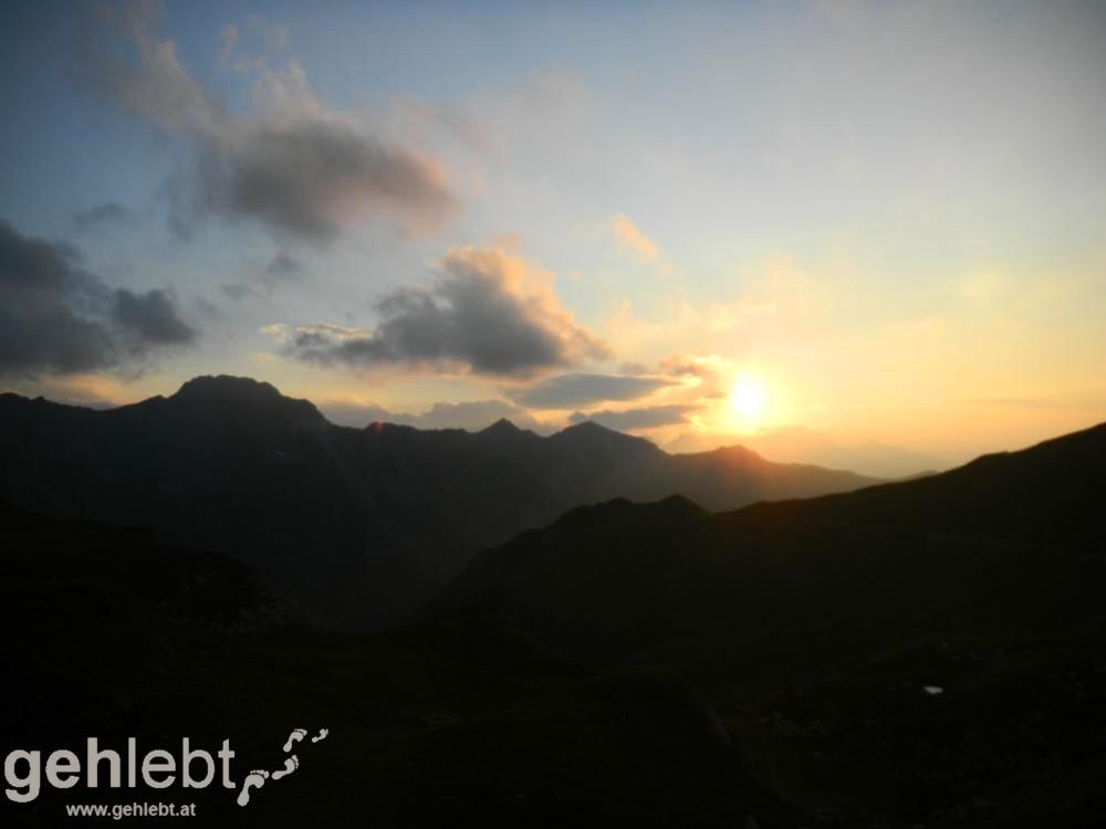 Augstenberg, Liechtenstein - Sonnenuntergang an der Pfälzer Hütte
