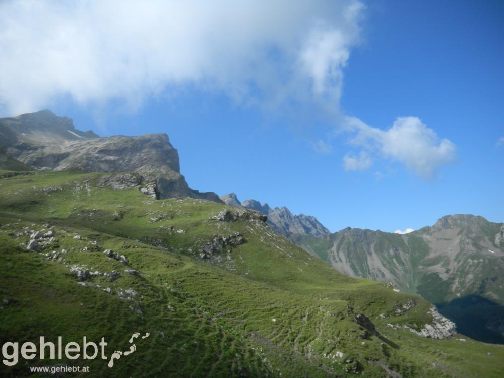 Naafkopf - Blick zurück zur Grauspitze