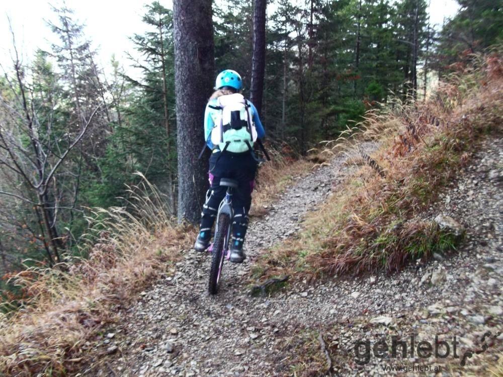 Mit dem Einrad den Berg runter: ich habe gestaunt.