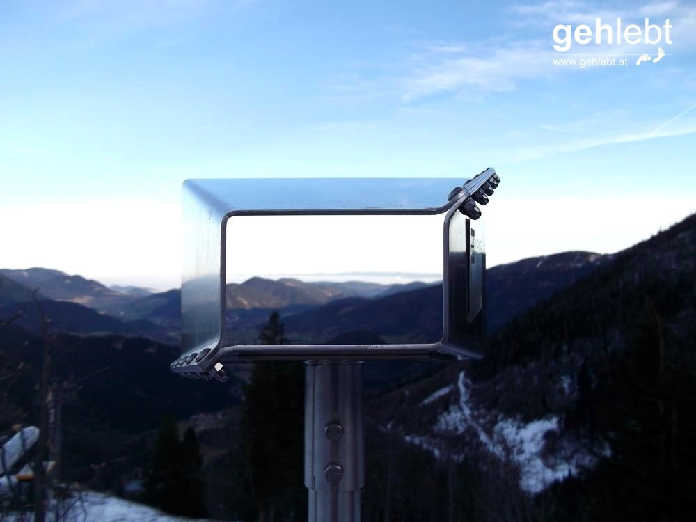 Der Wiener Alpen Viewer bevor man hineinblickt.