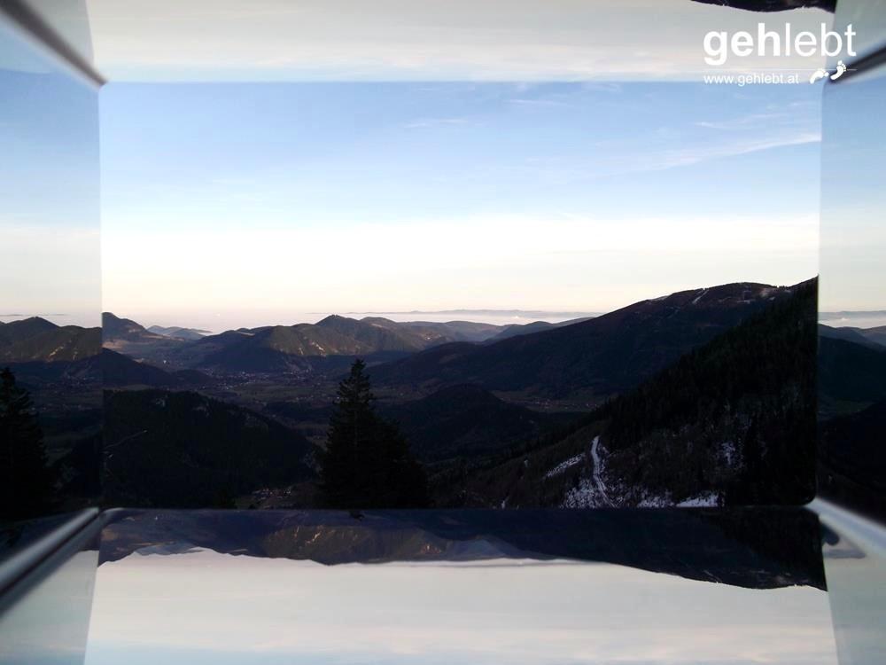Und dieses Panorama entdeckt man dank dem Wiener Alpen Viewer.