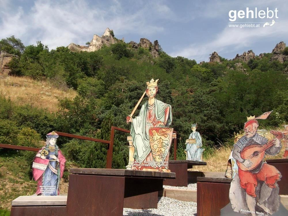 Rund um Dürnstein wird man stets mit der Legende rund um Richard Löwenherz konfrontiert.