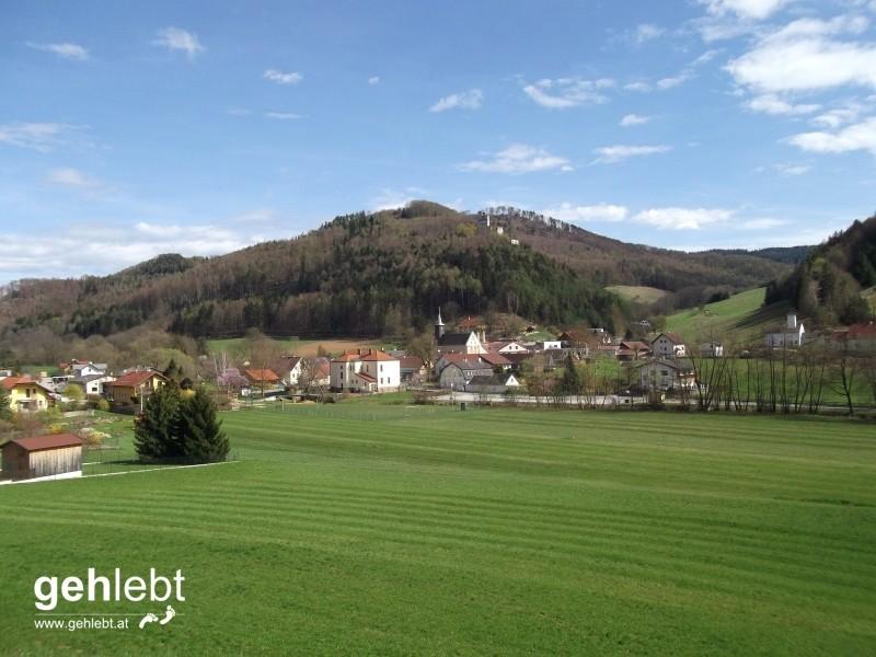 Die Weingartengasse führt uns nach Thernberg.