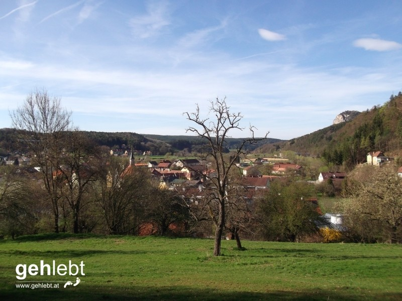 Blick auf Scheiblingkirchen, die letzten Meter am Rundwanderweg erwarten uns.