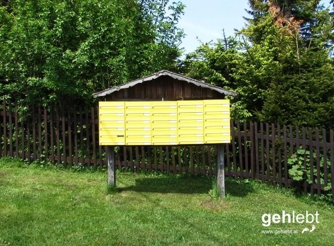 Das Postverteilzentrum vom Wanddörfl.