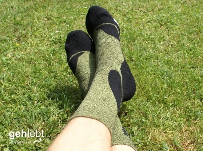 Aber, aber...die Socken sind ja nicht zum Liegen gedacht.