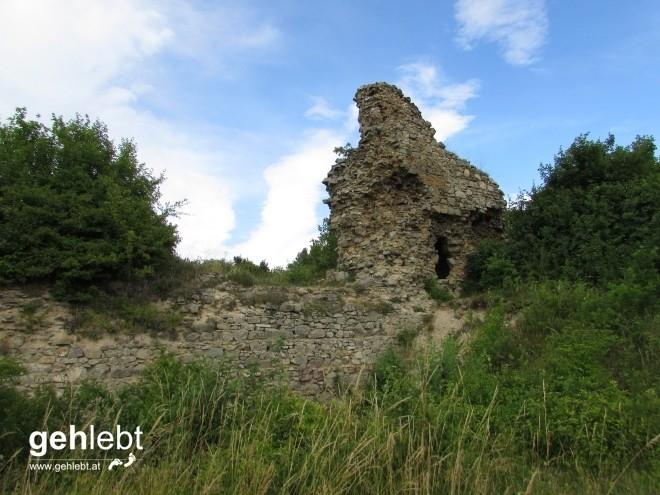 Die sterblichen Überrest der Ruine im Großformat.