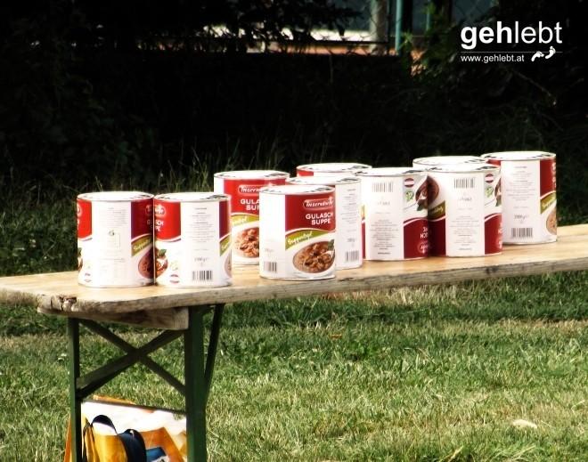 Heut gibt's Gulaschsuppe, frisch zubereitet.