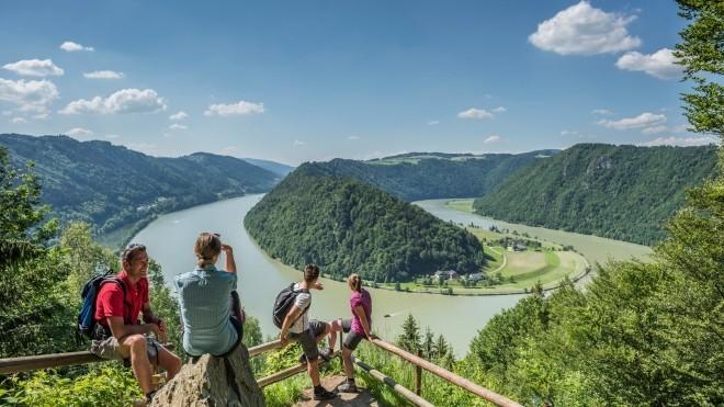 Ausblick Schlögener Schlinge Gemeinde Haibach ob der Donau. © WGD Donau Oberösterreich Tourismus GmbH/Hochhauser