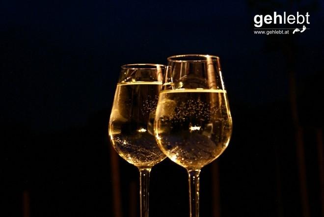 Wein in Hülle und Fülle.