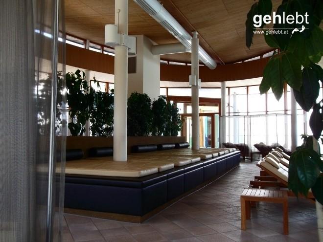 Im Gegensatz zu den freien Bereichen im Erlebnisbad ist im Schaffelbad Ruhe und Stille angesagt.