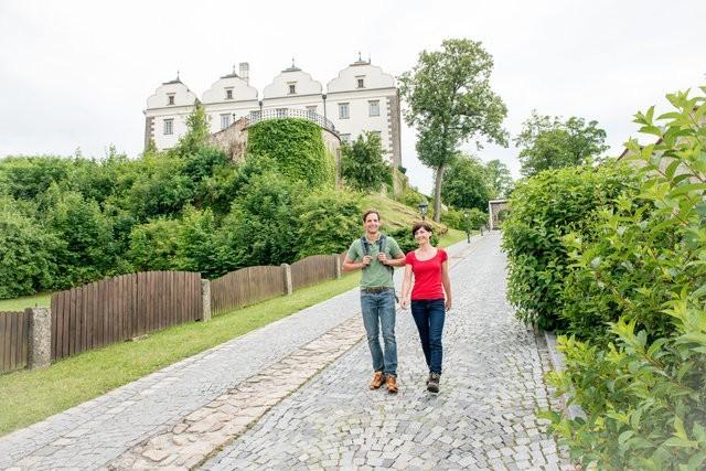 Schloss Weitra, am Weg entlang der Lainsitz. ©Waldviertel Tourismus