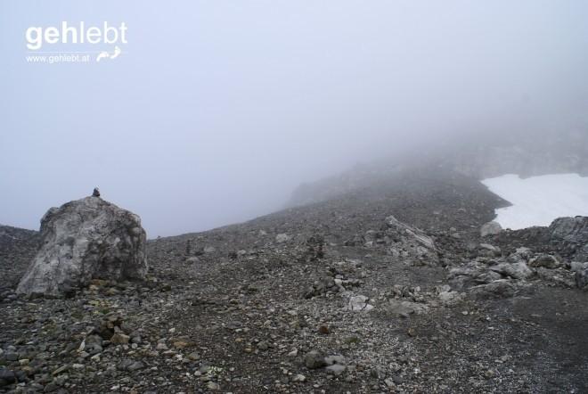 Am Südwandsteig kann die Schesaplana auf der Südseite umgangen werden.