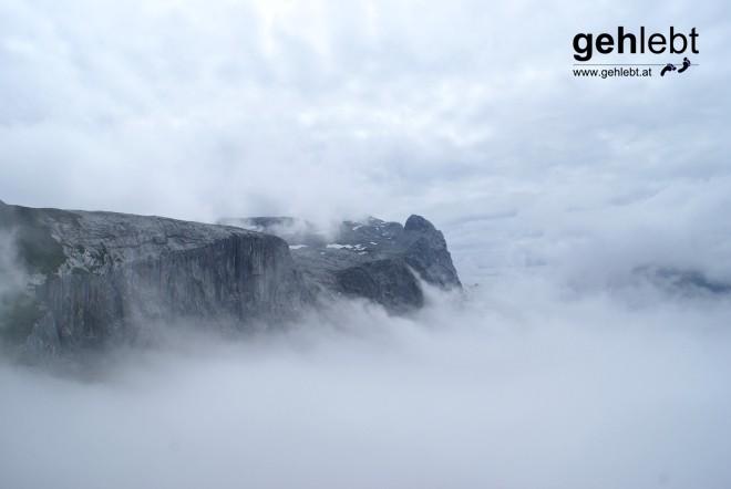 Die Nebelberge des Sulzfluh treten in Konkurrenz zum Mount Roraima.