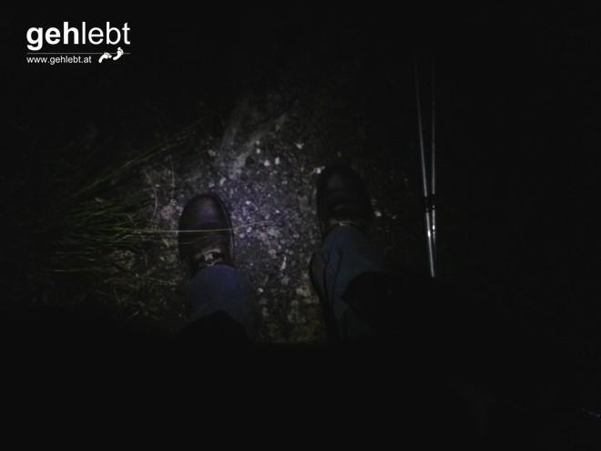 Das einzige Foto vom Abstieg zur Hütte - kurz vor der Querung eines reißenden Wildbaches.