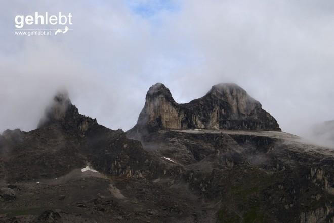 Die Drei Türme im Südosten der Lindauer Hütte gelten als das Vorarlberger Pendant zu den Drei Zinnen - jedenfalls für mich.