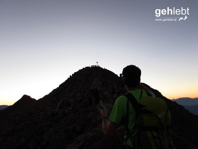 Der erste von elf Gipfeln: Rudlhorn, 2.448m.