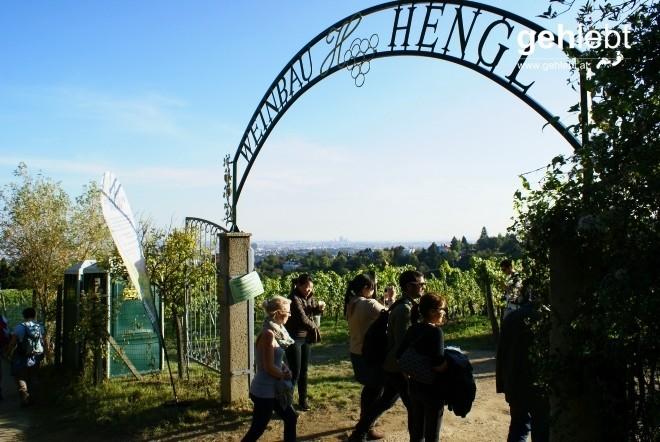 Tag des offenen Tors am Wiener Weinwandertag.
