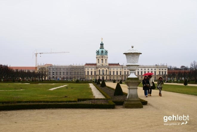 Schloss Charlottenburg als erster Augenschmaus des heutigen Tages.