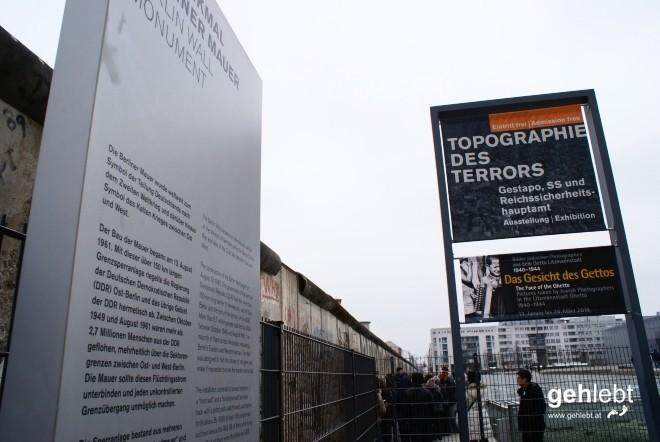 Ein langes, erhaltenes Mauerstück ist nur wenige Meter von meiner E11-Variante entfernt.