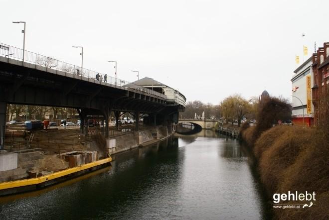 """Am Landwehrkanal treffe ich wieder auf den """"ursprünglichen"""" Wegverlauf des E11."""