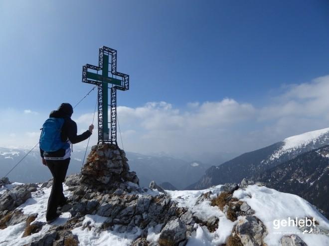 Am Höhepunkt der Gefühle: Gipfel des Krummbachsteins.