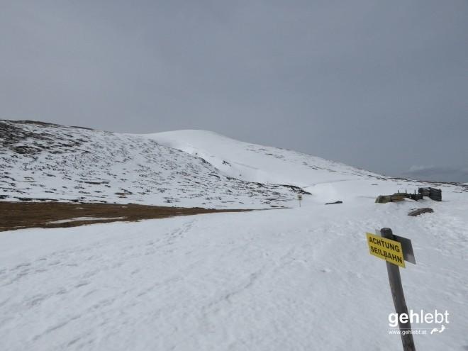 Teilweise gibt's ja doch noch sauviel Schnee auf der Rax.